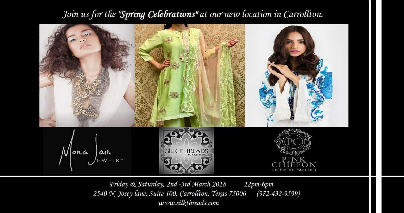 Silk threads Spring Collections event banner
