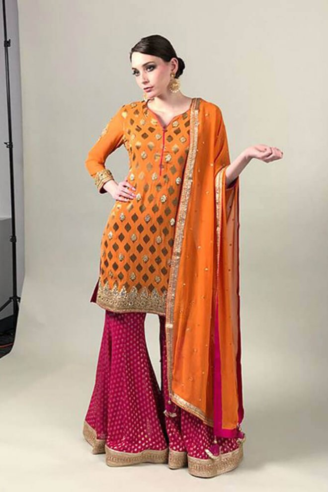 Ethnicwear-Orange-1